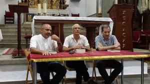 Alejandro Santana, Pedro Socorro y Pedro Quintana en la presentación de un libro