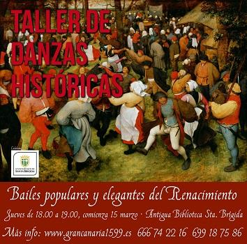 Cartel del taller de bailes renacentistas