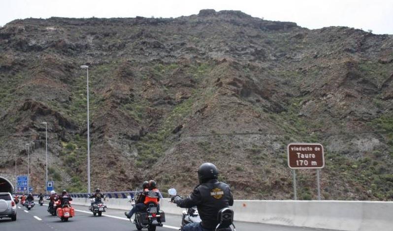 Excursión del club Harley-Davidson de Las Palmas