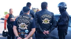 Varios miembros del club Harley-Davidson de Las Palmas
