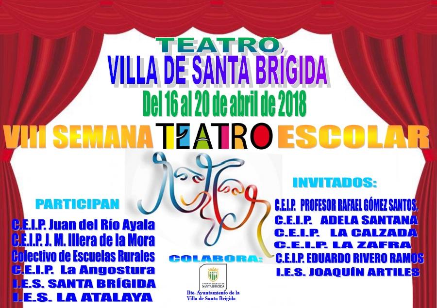Cartel de la VIII edición de la Semana de Teatro Escolar