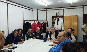 Un aspecto de la reunión de los colectivos para conmemorar la batalla del Batán