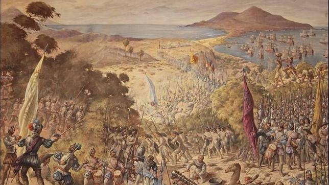 Cuadro que recrea la batalla de El Batán