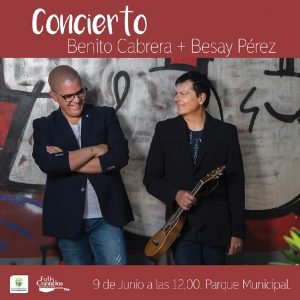 Cartel del concierto de Benito Cabrera