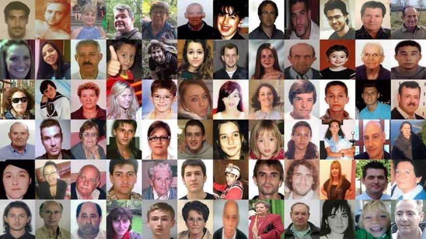 Personas desaparecidas que recoge el portal sosdesaparecidos