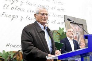 Santiago Robaina León durante el acto