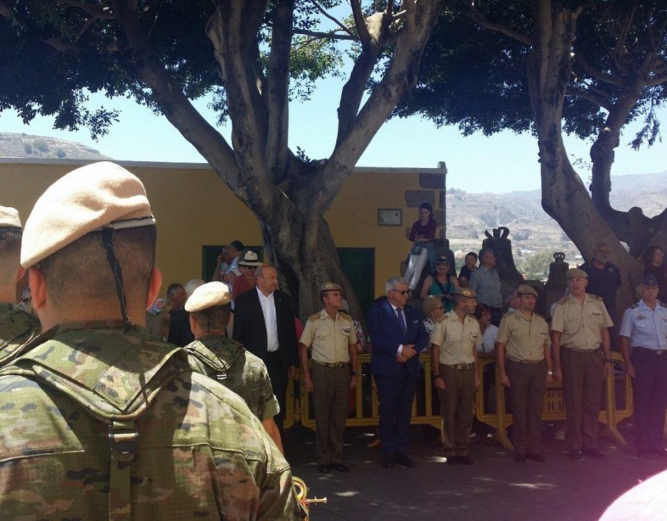 Miembros del Regimiento Canarias 50 en un acto en Santa Brígida