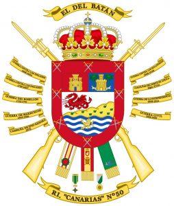 Escudo actualizado del Regimiento Canarias 50