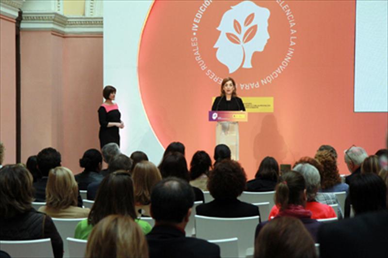 Imagen de archivo de una entrega de los premios Excelencia a la Innovación para Mujeres Rurales