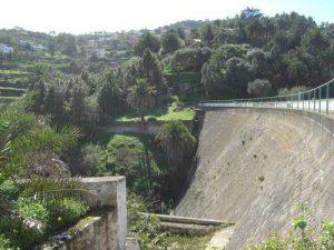 Imagen de la presa de Santa Brígida
