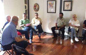 Un aspecto de la reunión con los representantes de las comisiones de fiestas
