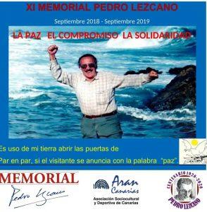 Cartel del XI Memorial Pedro Lezcano