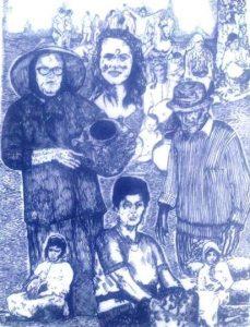 Ilustración de la cartelería de las fiestas de La Atalaya