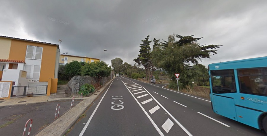 Imagen del acceso a la carretera de Las Casillas desde la Carretera del Centro