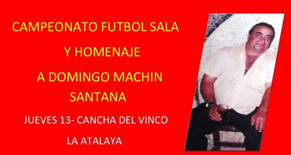 Detalle del cartel con imagen de Domingo Machín