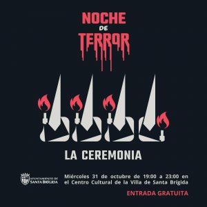 Cartel de la fiesta Noche de Terror