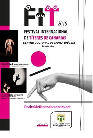 Cartel de espectáculos del Festival de Títeres en la Villa