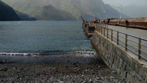 Imagen del antiguo puerto de Las Nieves en Agaete