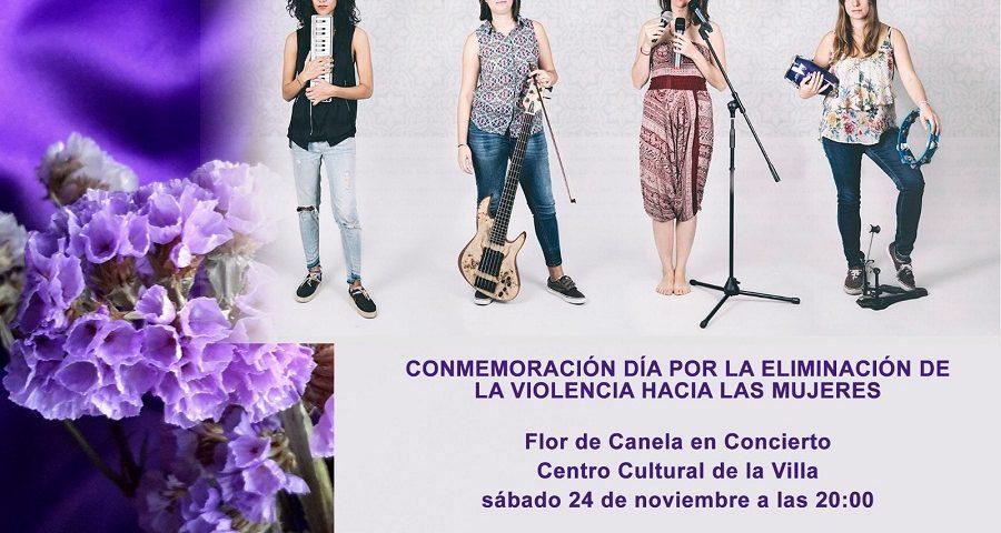 Cartel del concierto del grupo Flor de Canela