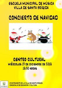 Cartel del concierto que ofrecerán la Escuela Municipal de Música y el Taller Infantil de Teatro