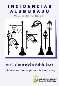 Cartel del servicio municipal de alumbrado