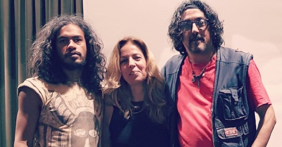 Tiago Braúna (izq), Claude Cachemaiklle (c) y Rubén Díaz