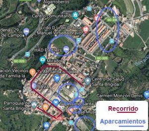 Ubicación de las zonas de aparcamiento en el municipio para la noche de Reyes