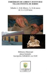 Cartel de los talleres 'Embárrate de libros y de barro'