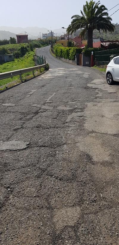 La vía antes de ser asfaltada