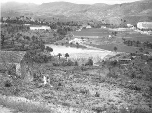 Imagen antigua de la presa satauteña propiedad de Emalsa