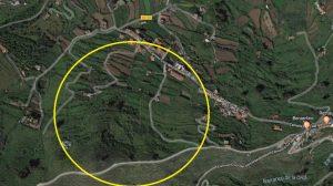 Vista aérea de El Gamonal con una ubicación aproximada de los terrenos municipales