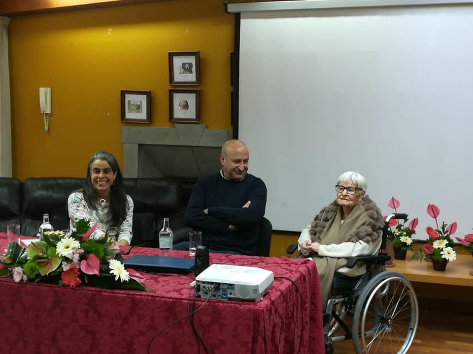 La concejal Rosalía Rodríguez, el alcalde, José Armengol, y Pino.
