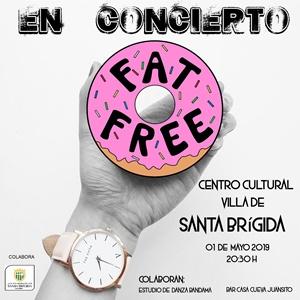 Cartel del concierto de Fat Free