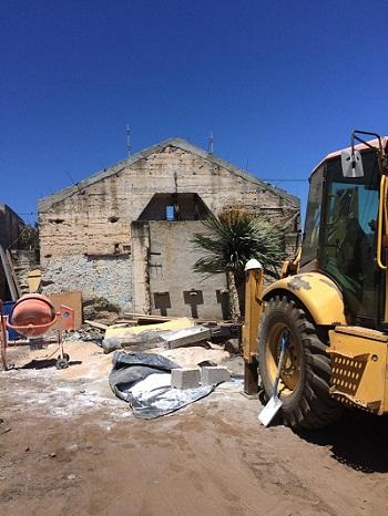 Obras en el edificio del antiguo pozo