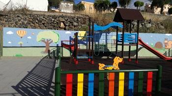Mural en un parque infantil